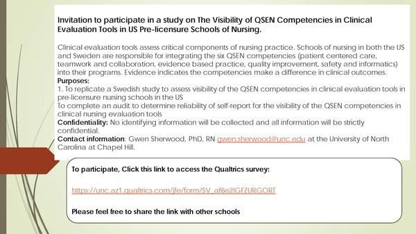 Recruitment Flyer for QSEN study - Modified 2